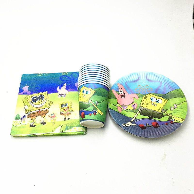 Kraft Paper Coffee Cups Milk Tea Cups With Switch Lid Party Paper Cup Christmas Supplies  sc 1 st  ProfessionalFlexibleRecyclable package & Spongebob plates cups kids birthday party supplies - Professional ...